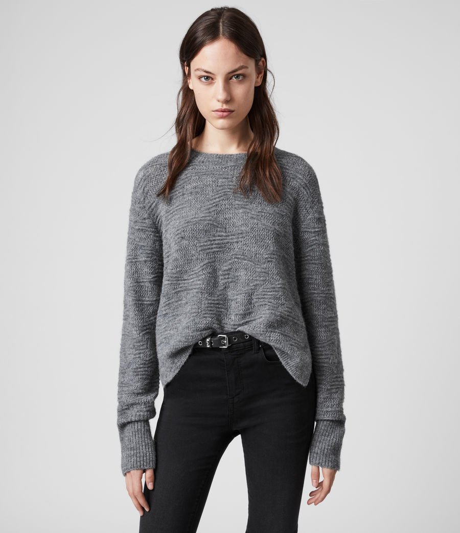 Womens Tabby Sweater (grey_marl) - Image 1