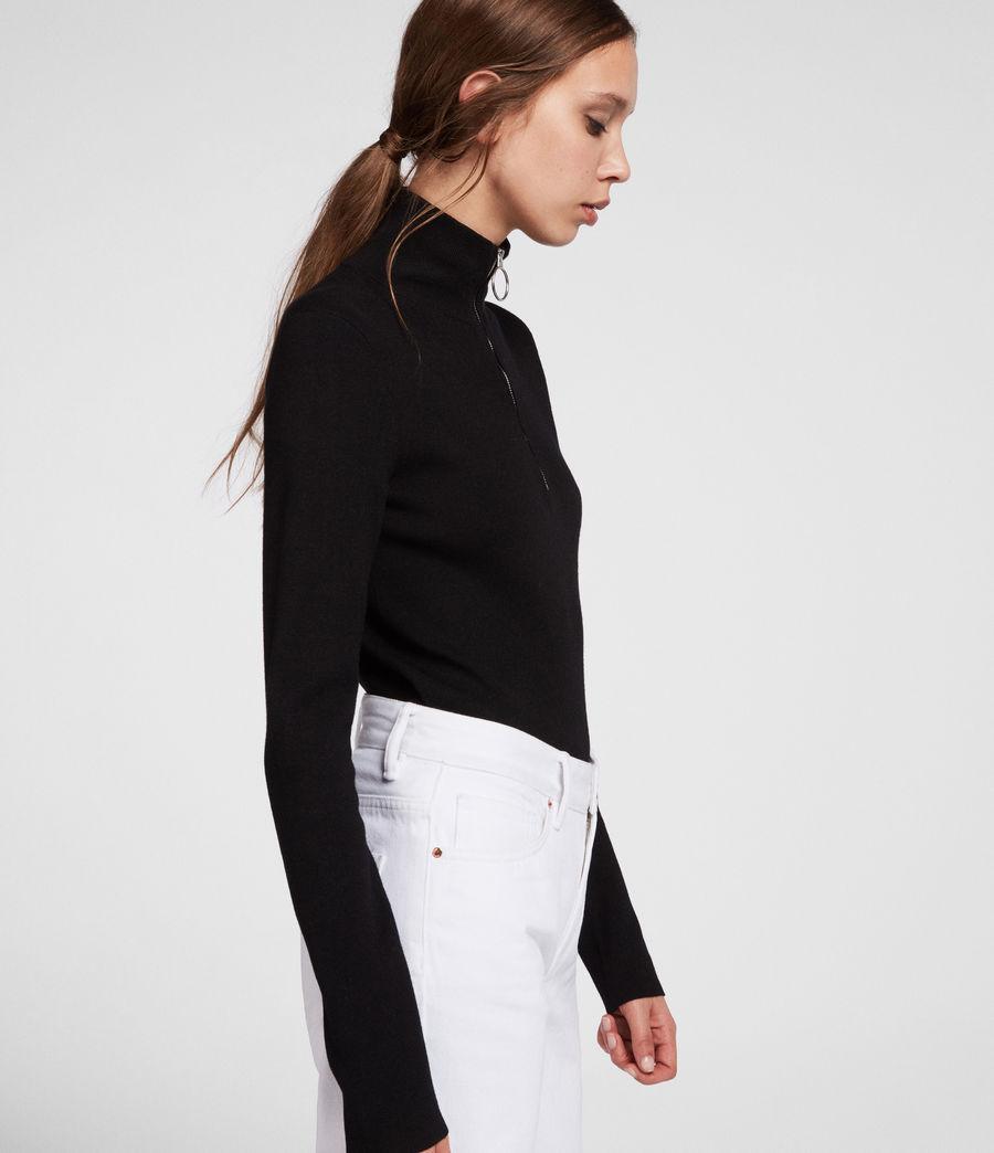 Femmes Pull Lacey (black) - Image 3