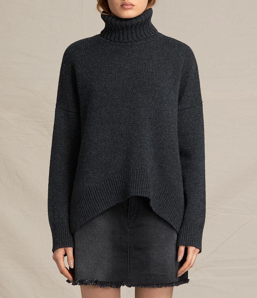 Mujer Jersey de cuello alto Veda (charcoal_grey_marl) - Image 1
