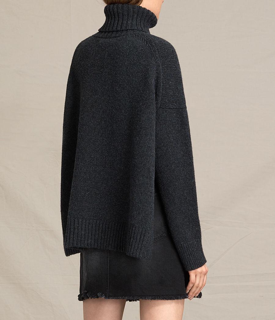 Mujer Jersey de cuello alto Veda (charcoal_grey_marl) - Image 4