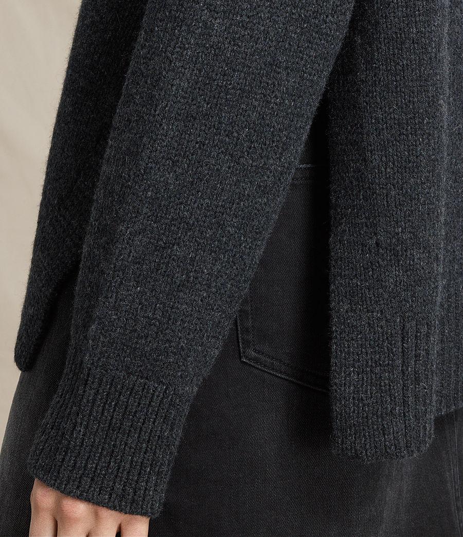 Mujer Jersey de cuello alto Veda (charcoal_grey_marl) - Image 5
