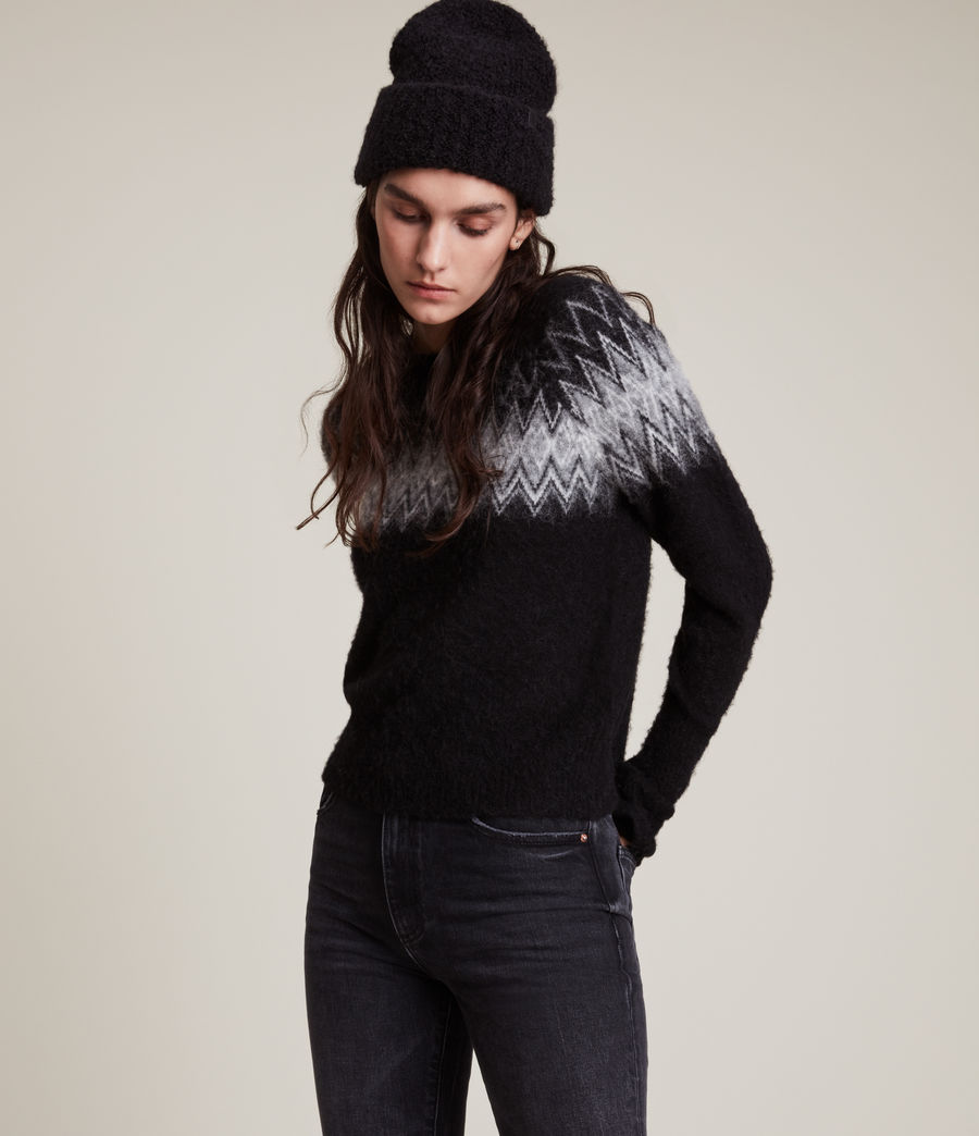 Womens Clyde Sweater (black) - Image 1