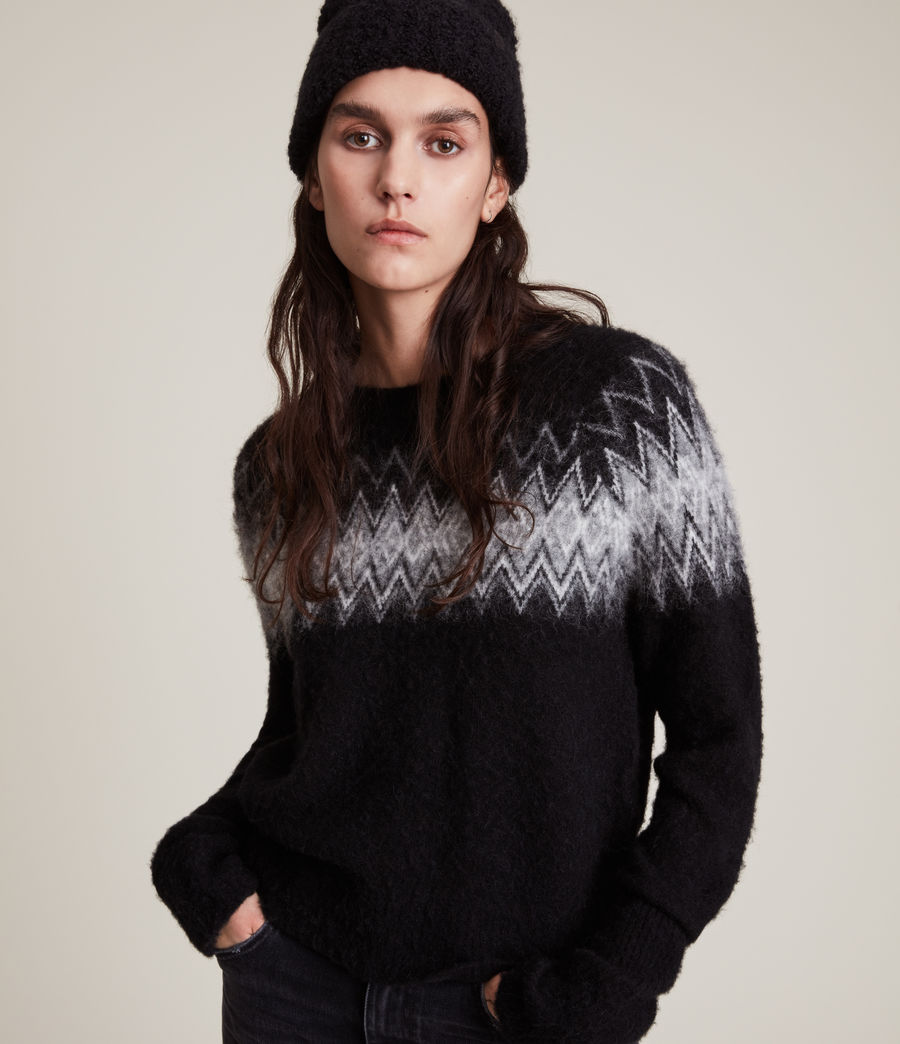 Womens Clyde Sweater (black) - Image 2