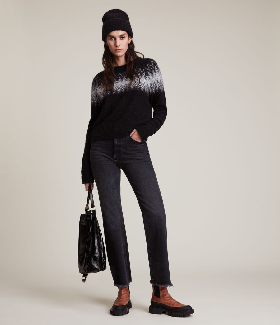 Womens Clyde Sweater (black) - Image 3