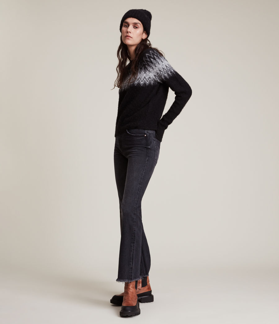Womens Clyde Sweater (black) - Image 4
