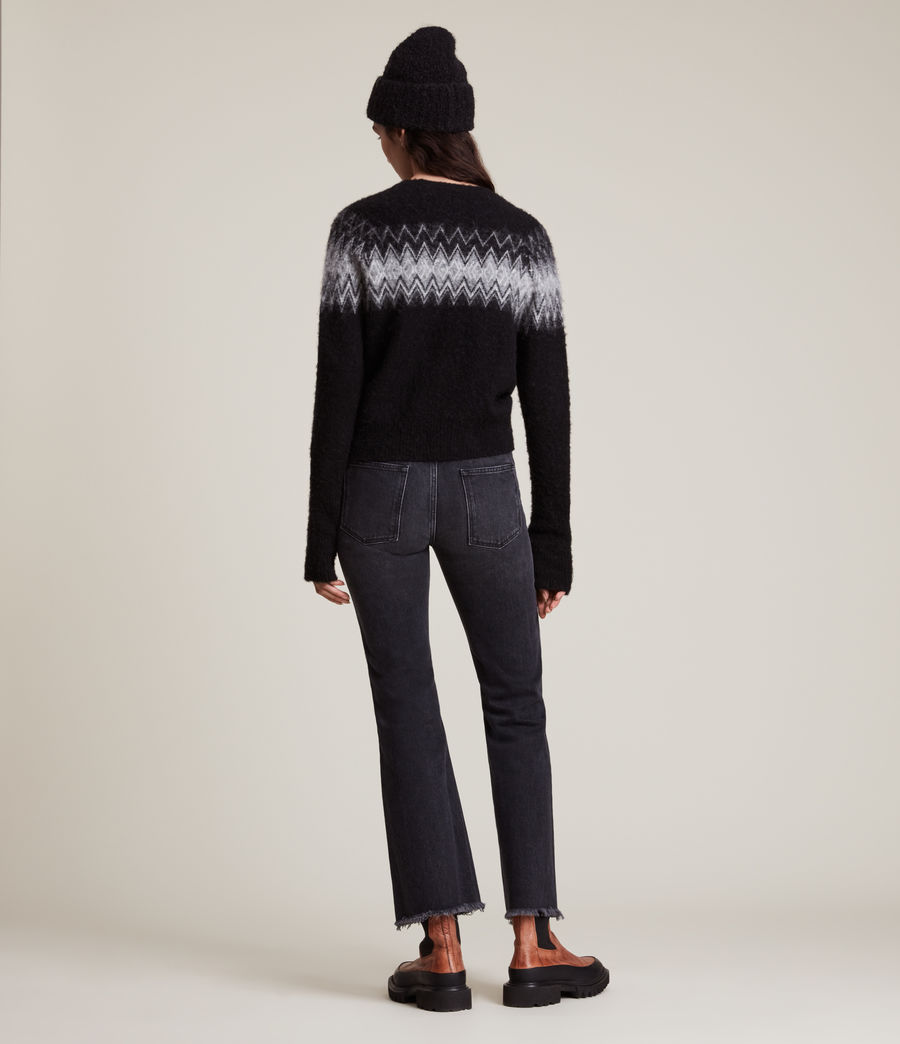 Womens Clyde Sweater (black) - Image 5
