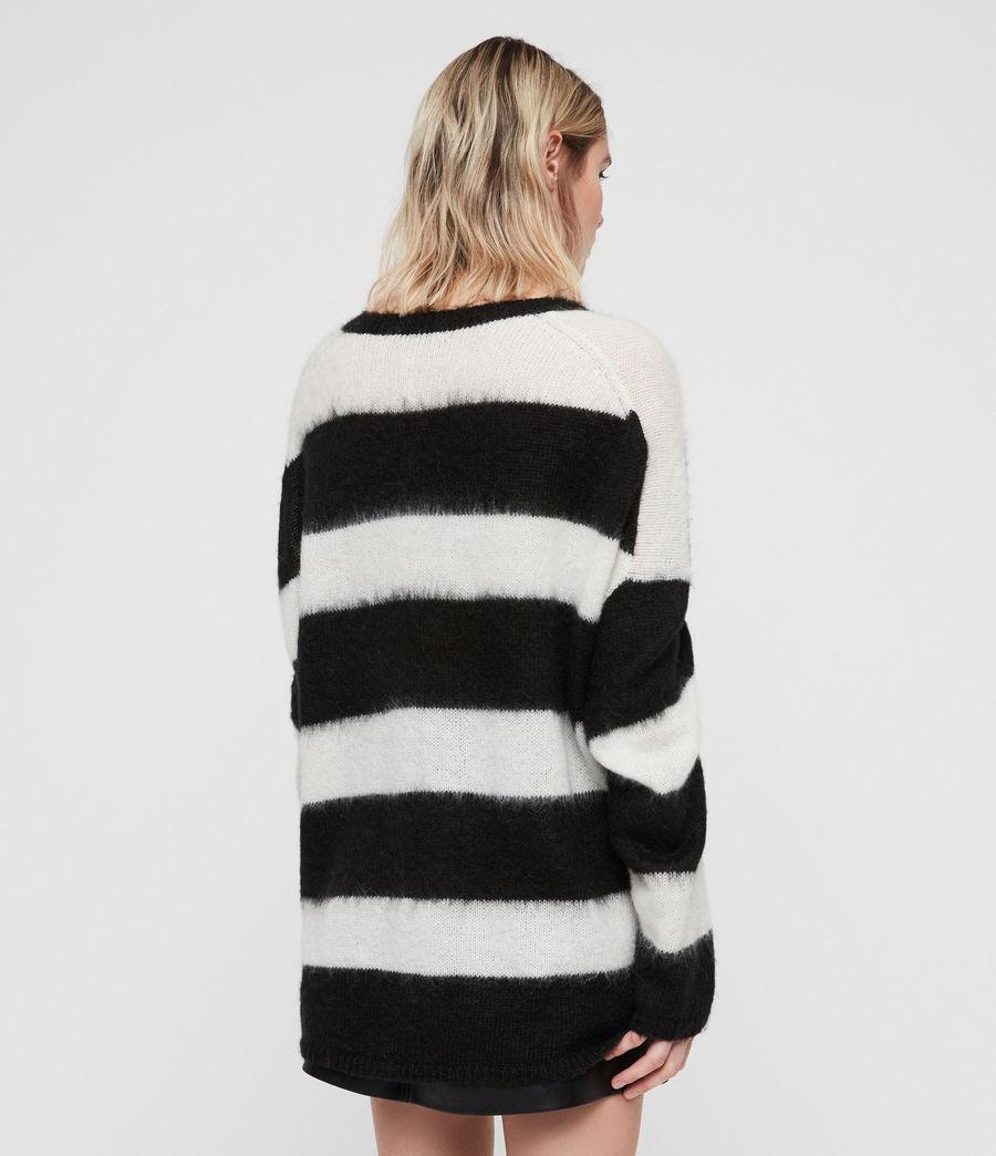 Womens Byers V-neck Jumper (black_cream_white) - Image 5