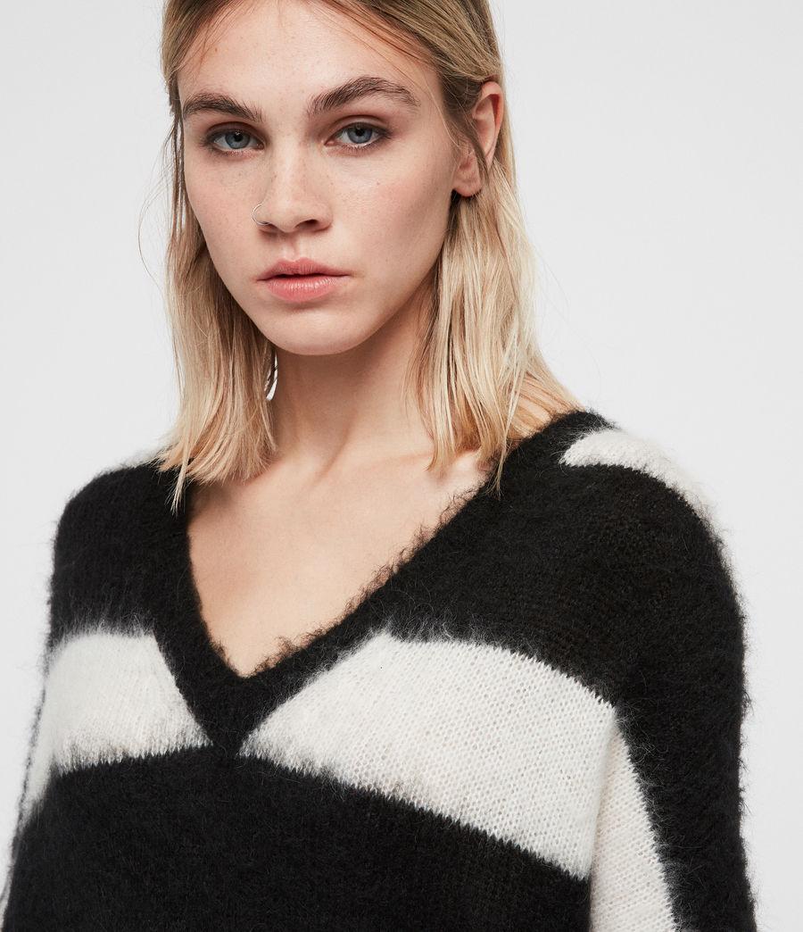 Womens Byers V-neck Jumper (black_cream_white) - Image 6