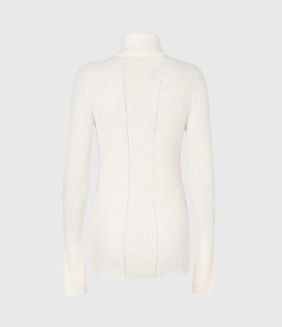 Womens Seamless Roll Neck Sweater (chalk_white) - Image 3