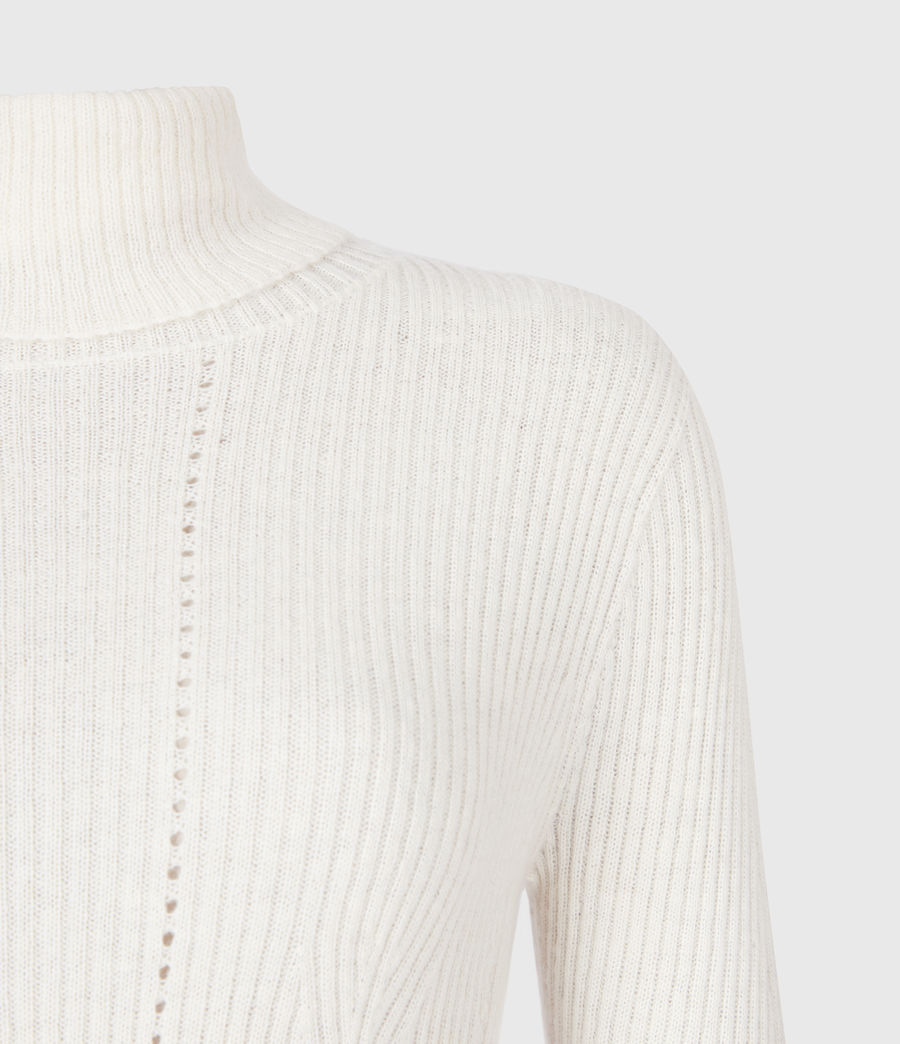 Womens Seamless Roll Neck Sweater (chalk_white) - Image 5
