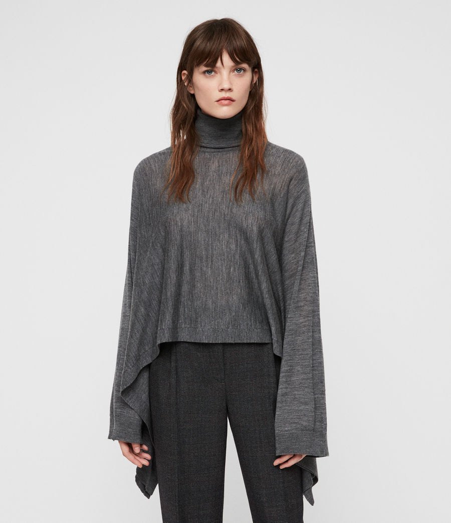 Donne Tonia Cape (charcoal_grey) - Image 1