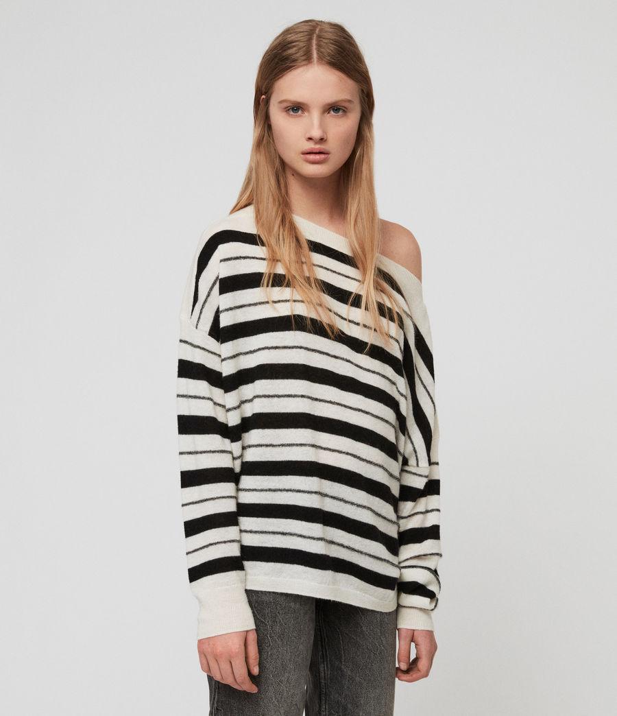 Womens Misty Sweater (chalk_white_black) - Image 1