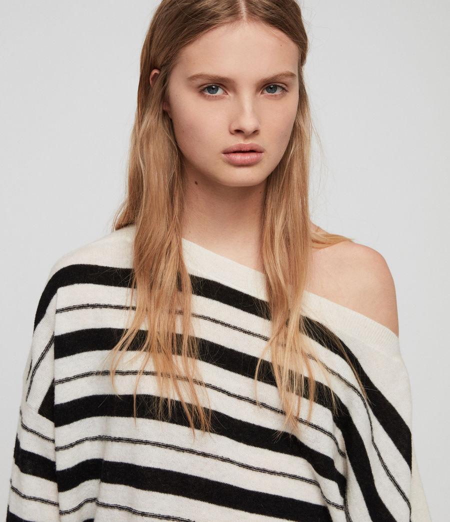 Womens Misty Sweater (chalk_white_black) - Image 2