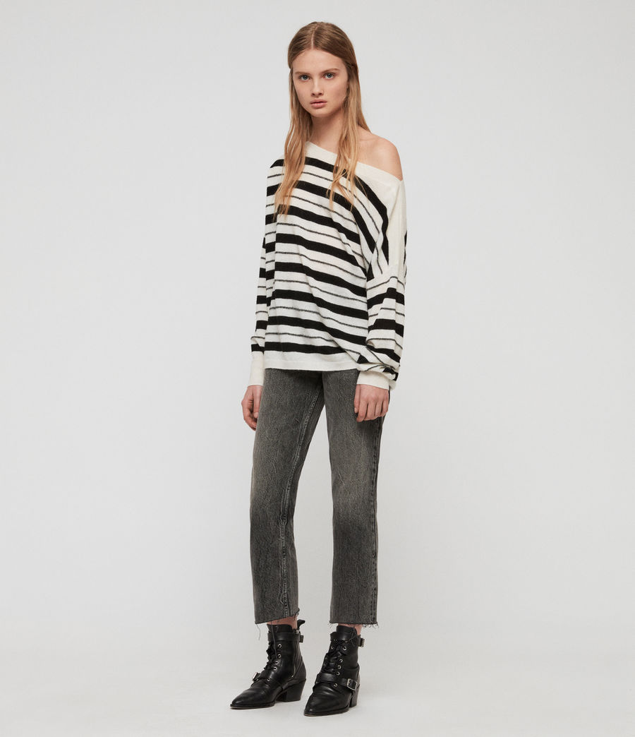 Women's Misty Jumper (chalk_white_black) - Image 3