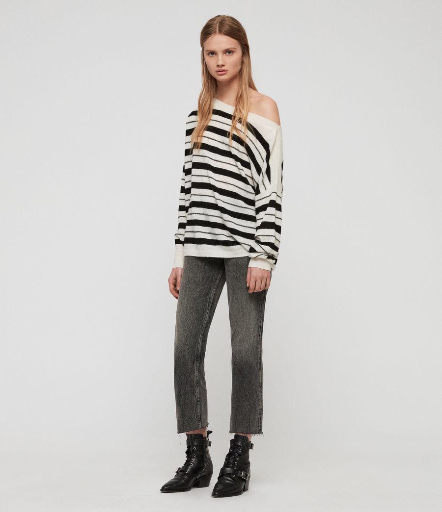 Womens Misty Sweater (chalk_white_black) - Image 3