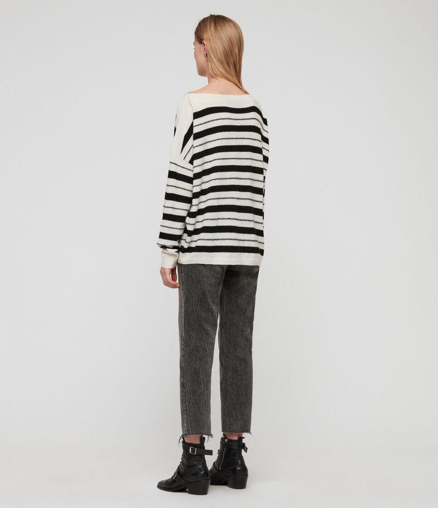 Womens Misty Sweater (chalk_white_black) - Image 4
