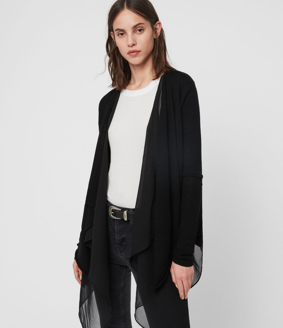 Womens Mirri Cardigan (black) - Image 1