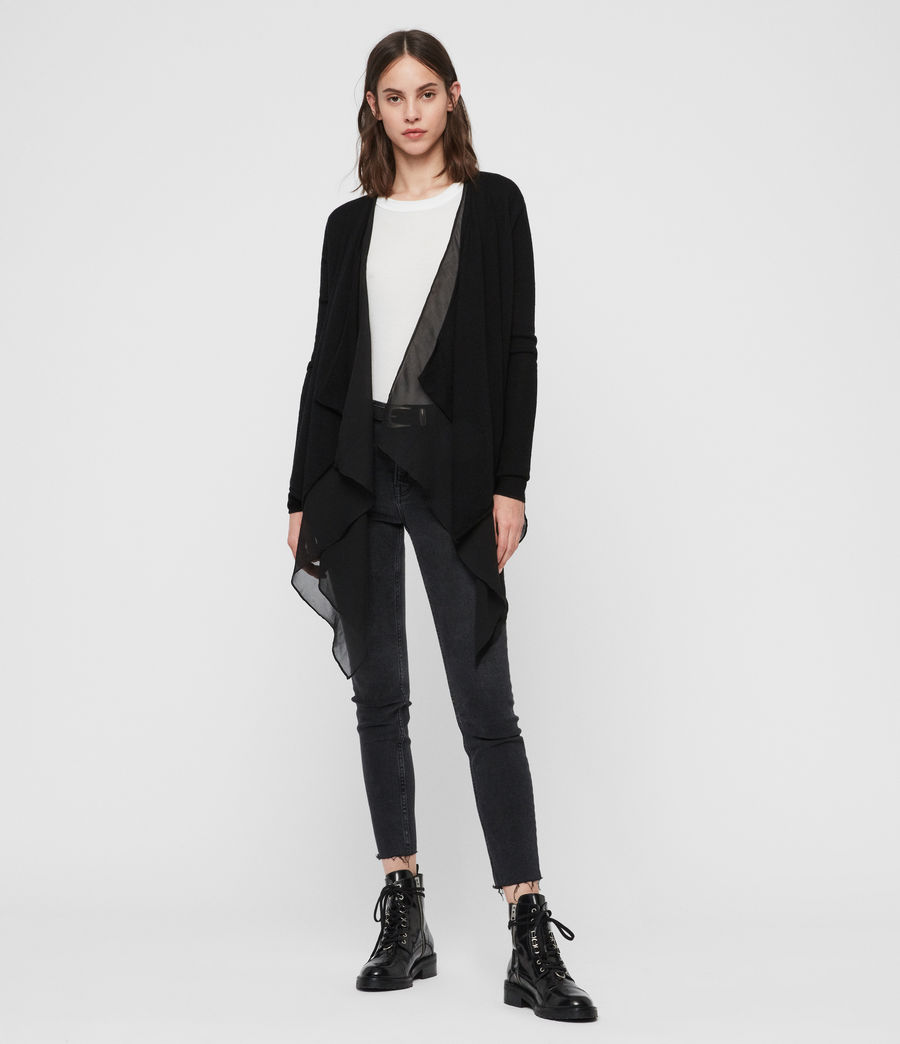 Womens Mirri Cardigan (black) - Image 2