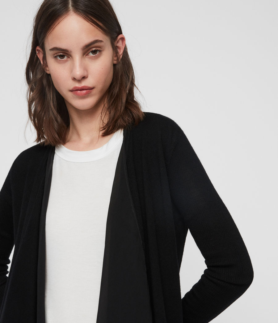 Womens Mirri Cardigan (black) - Image 3