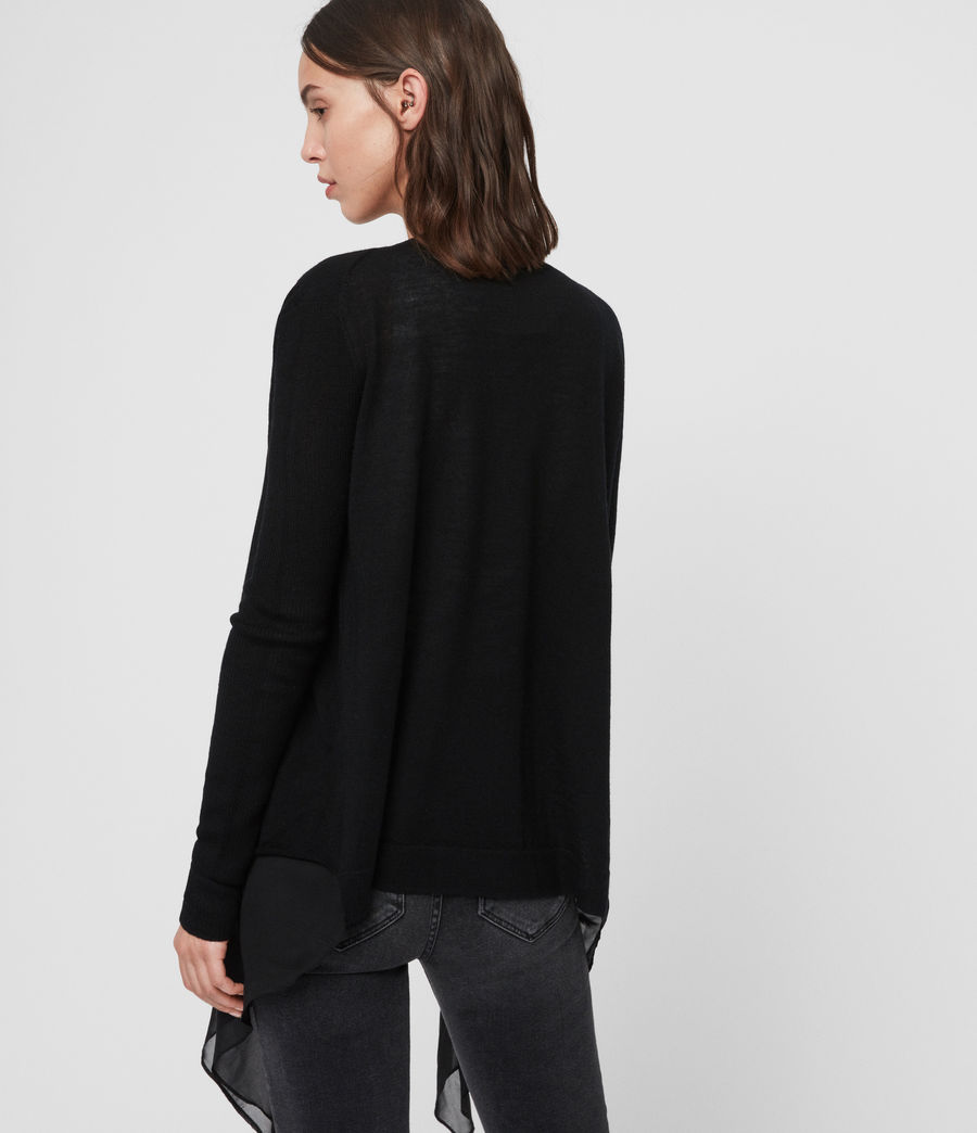 Womens Mirri Cardigan (black) - Image 4