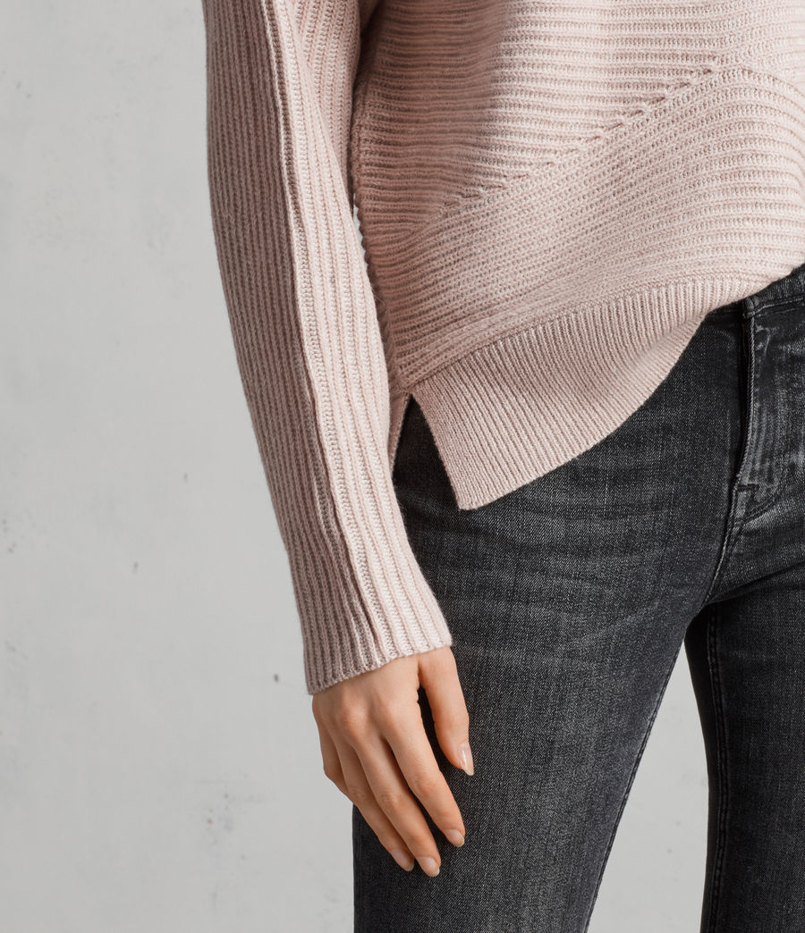 Women's Mesa Roll Neck Jumper (whisper_pink) - Image 2