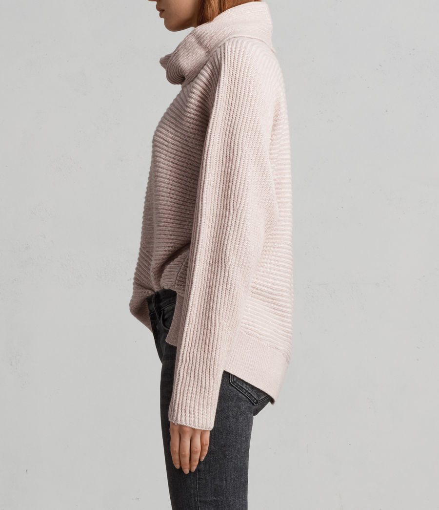 Women's Mesa Roll Neck Jumper (whisper_pink) - Image 4