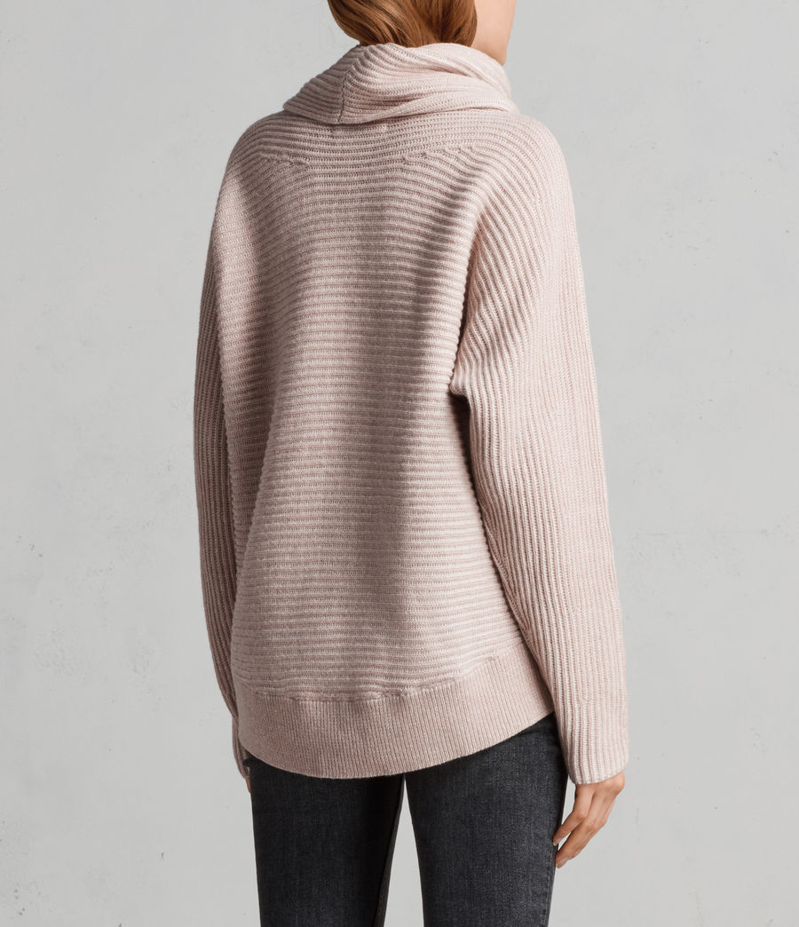 Women's Mesa Roll Neck Jumper (whisper_pink) - Image 5