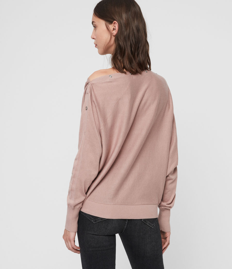 Womens Elle Eyelet Sweater (sorrel_pink) - Image 4
