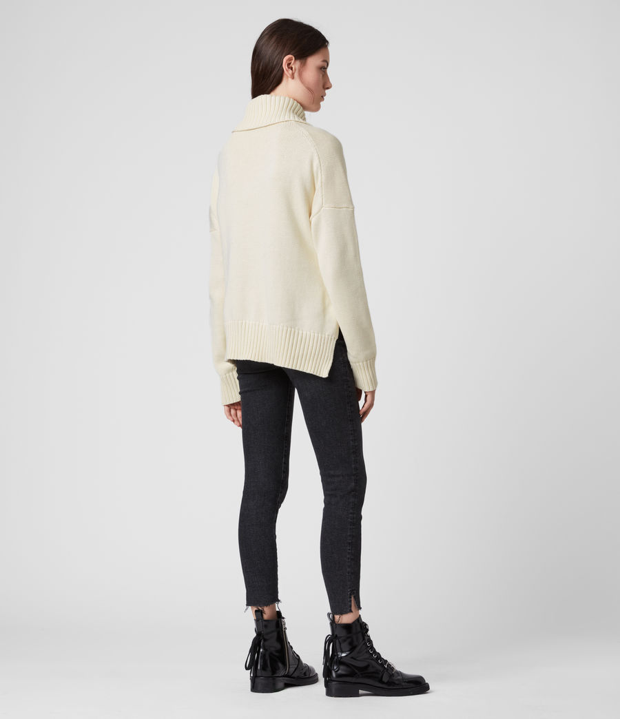 Womens Witby Zip Sweater (chalk_white) - Image 4