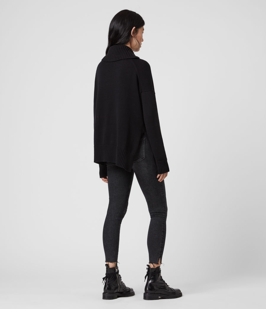 Womens Witby Zip Sweater (black) - Image 3