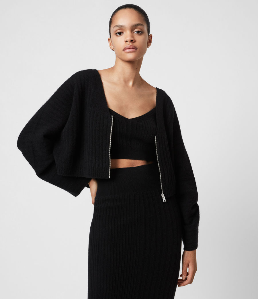 Womens Enya Cardigan (black) - Image 1