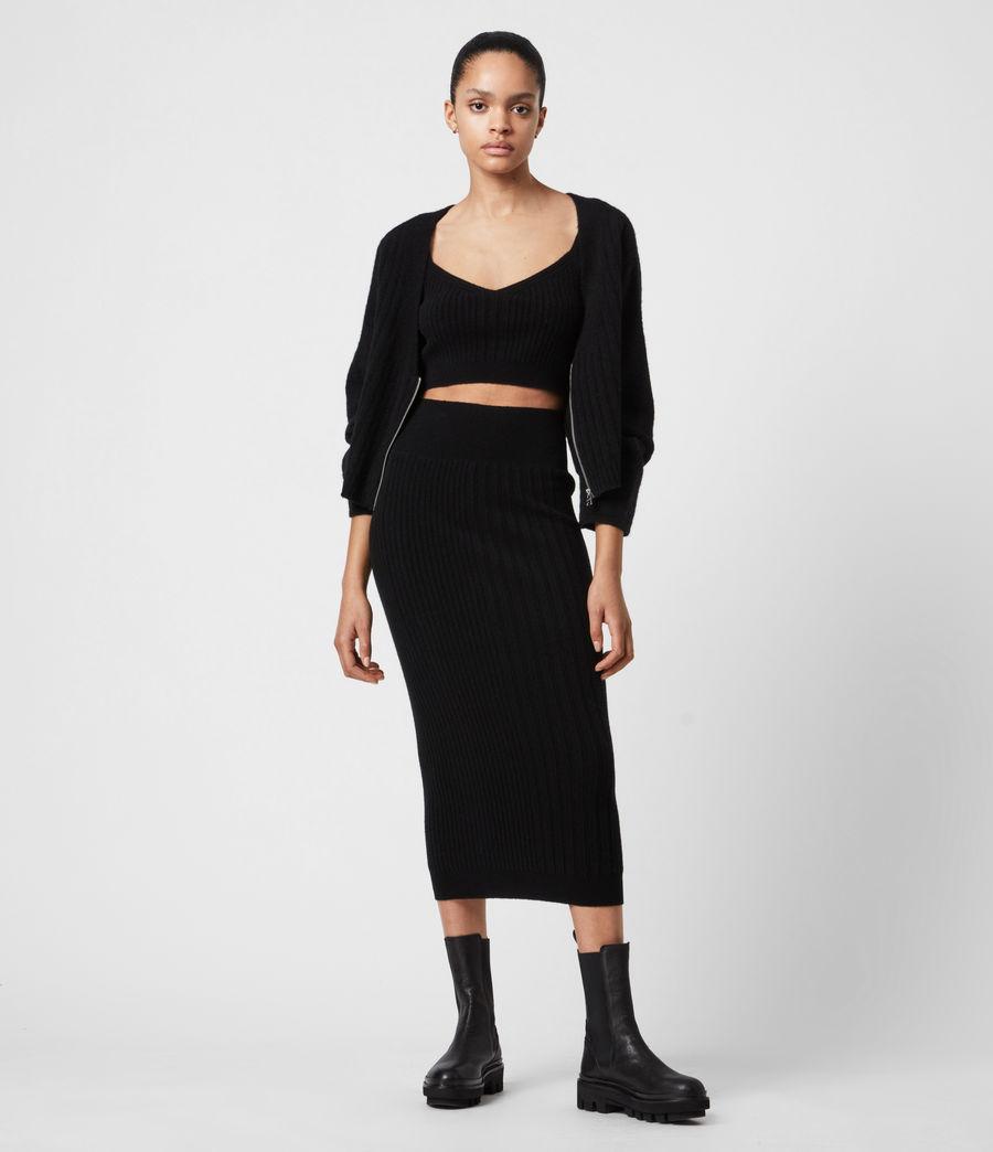 Womens Enya Cardigan (black) - Image 4