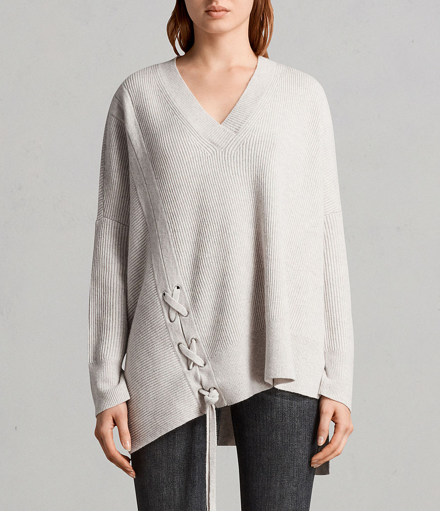 Womens Able Laced Sweater (porcelain_white) - Image 1