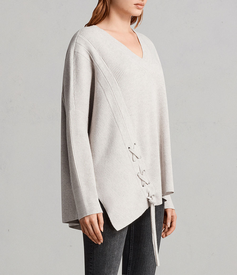 Womens Able Laced Sweater (porcelain_white) - Image 3