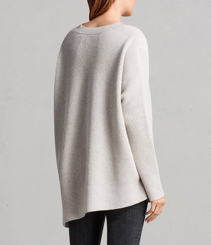 Womens Able Laced Sweater (porcelain_white) - Image 5