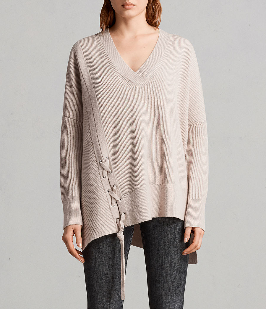Women's Able Laced Jumper (quartz_pink_marl) - Image 1