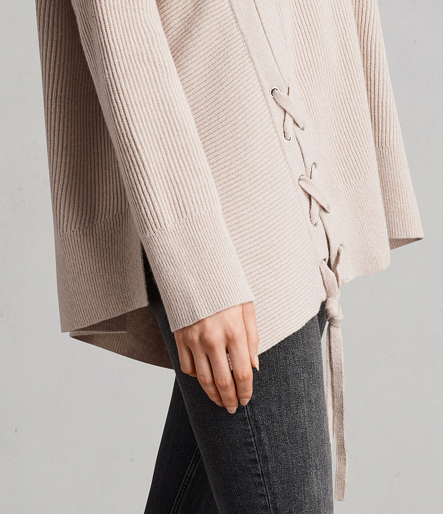 Women's Able Laced Jumper (quartz_pink_marl) - Image 2