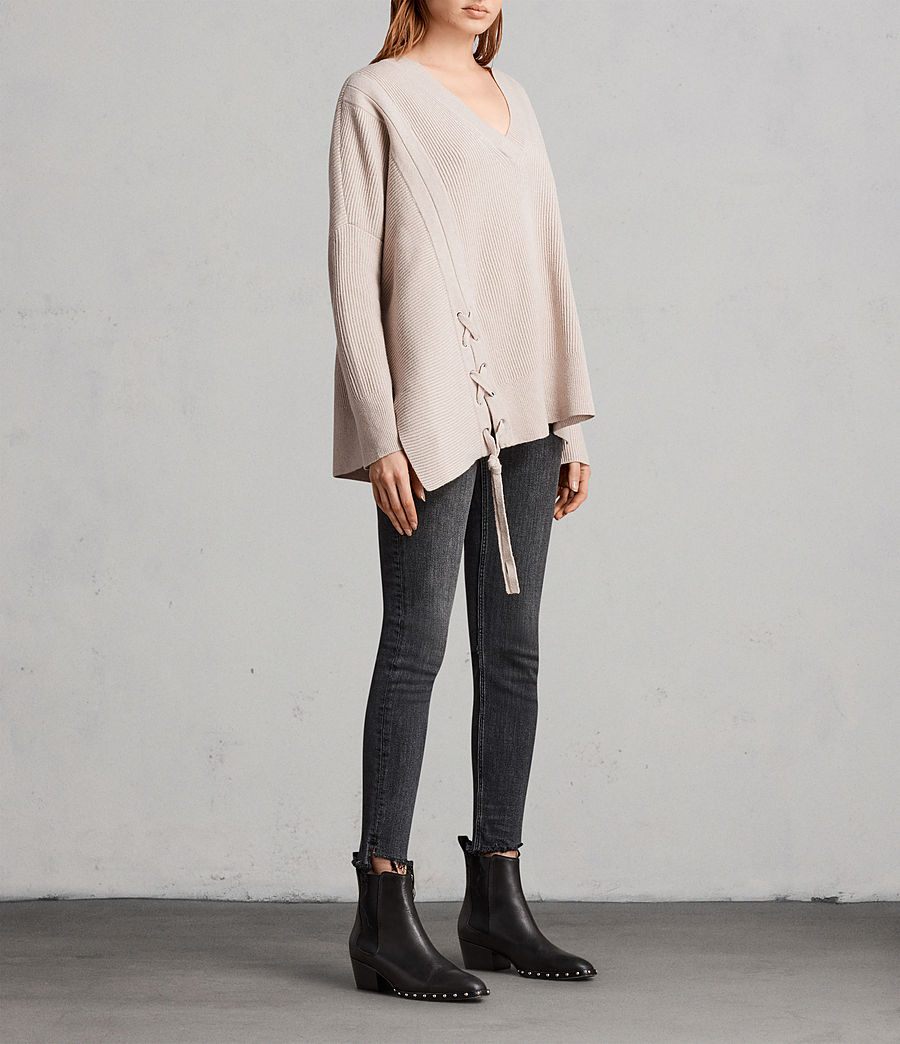 Women's Able Laced Jumper (quartz_pink_marl) - Image 3