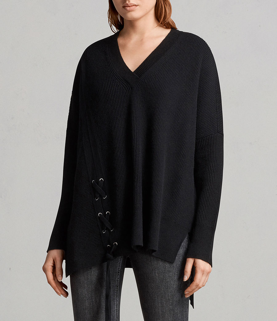 Women's Able Laced Jumper (black) - Image 1