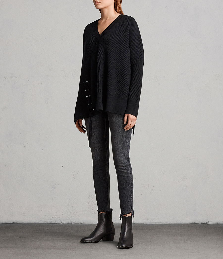 Women's Able Laced Jumper (black) - Image 3