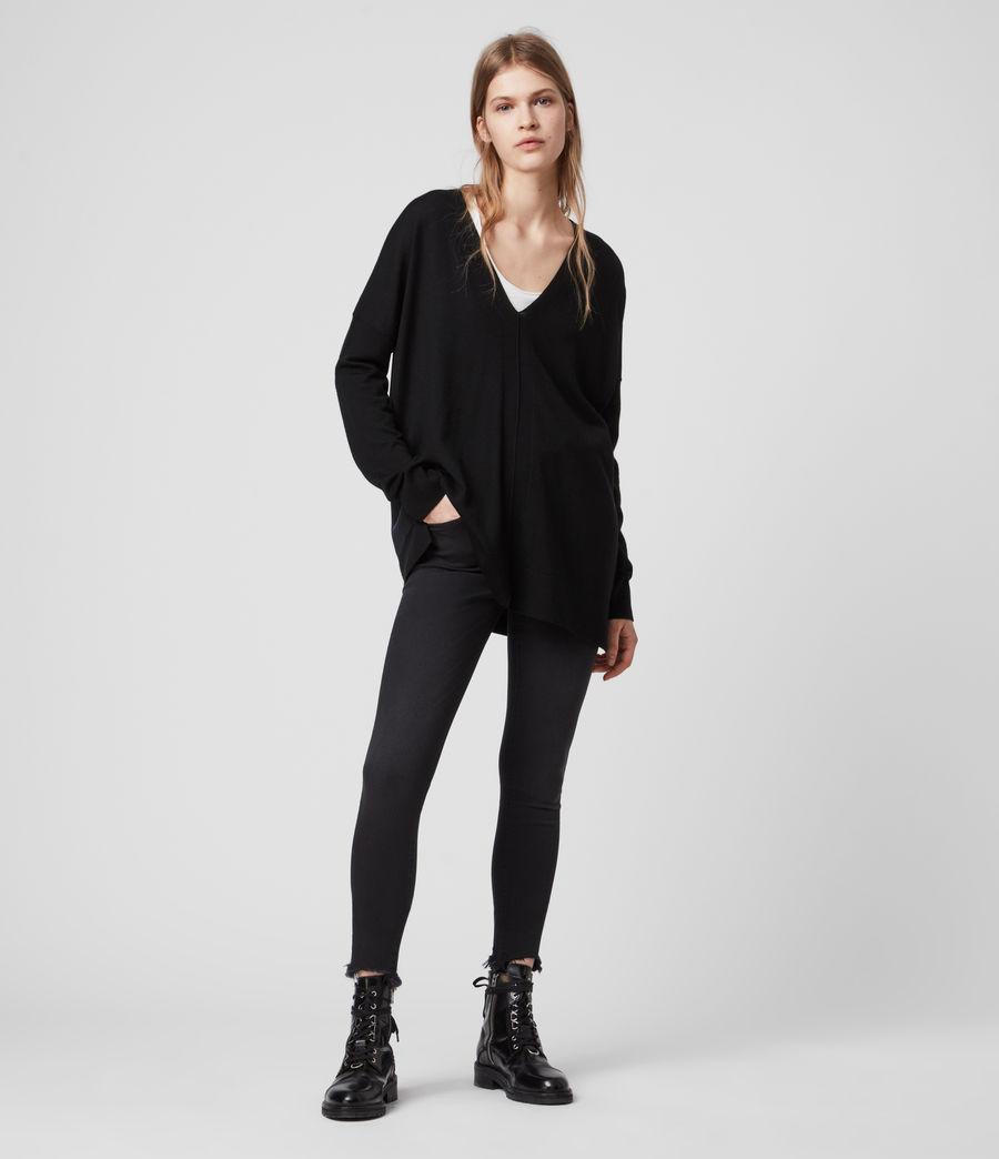 Women's Arly V-Neck Jumper (black) - Image 1