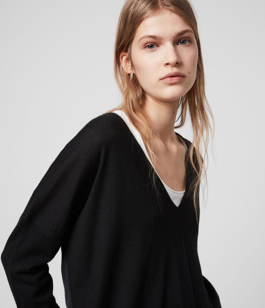 Womens Arly V-Neck Sweater (black) - Image 2