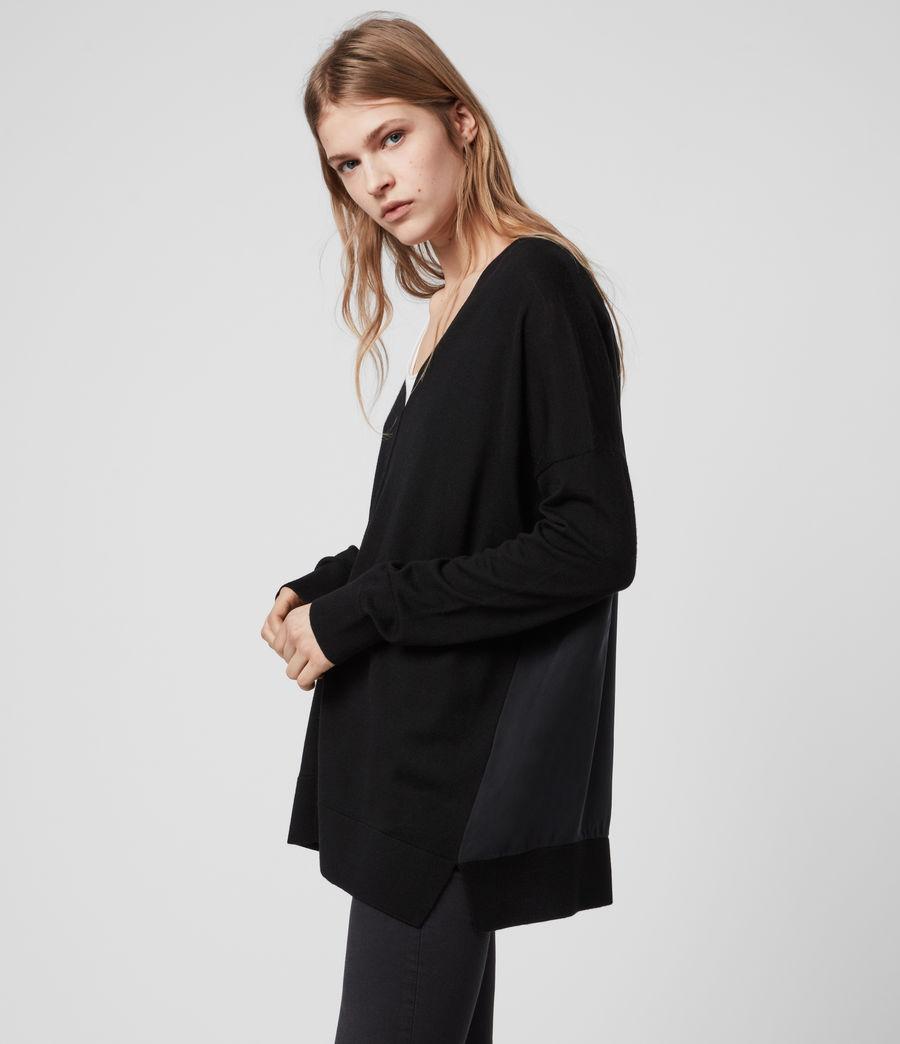 Womens Arly V-Neck Sweater (black) - Image 3