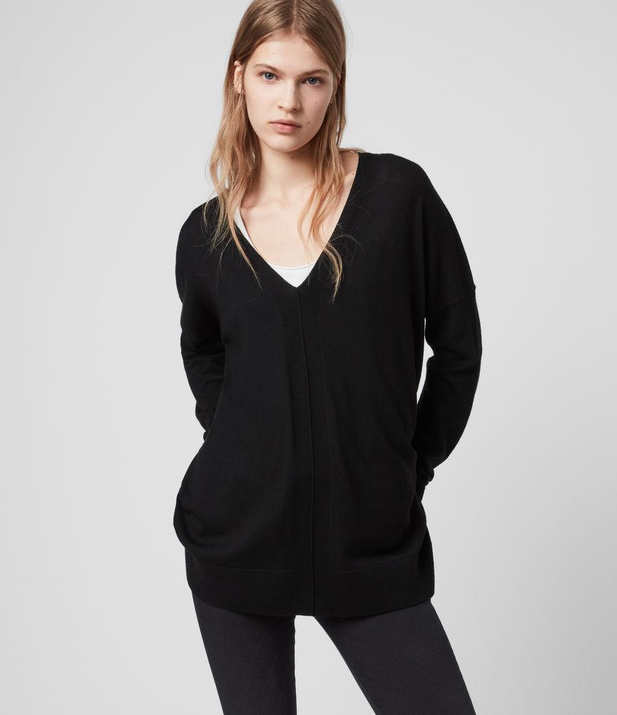 Womens Arly V-Neck Sweater (black) - Image 4