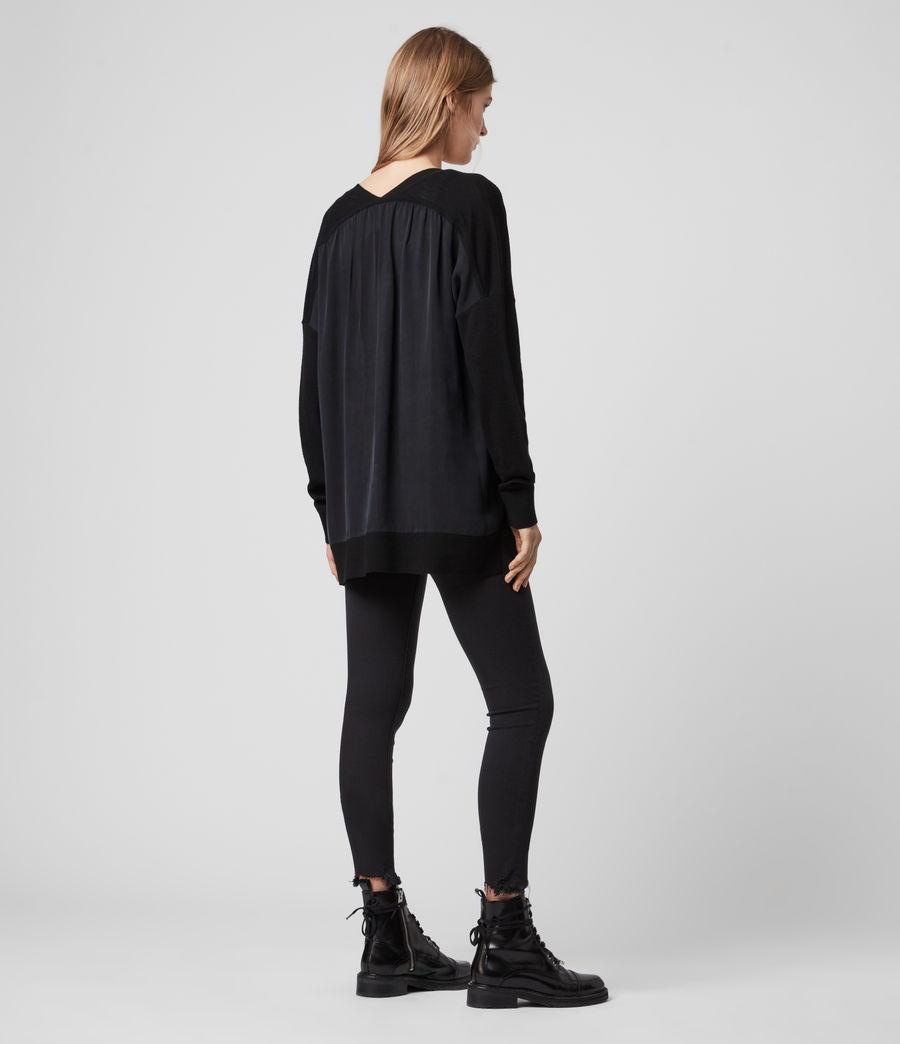 Women's Arly V-Neck Jumper (black) - Image 6