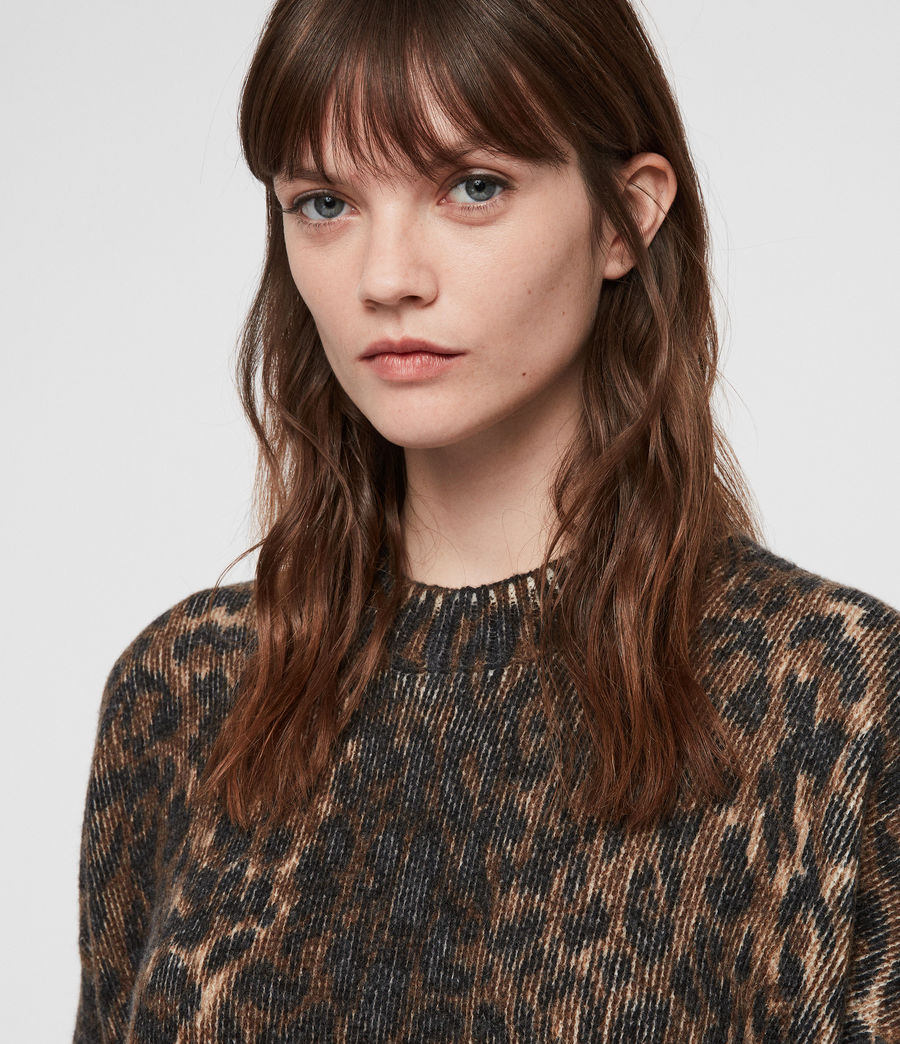 Womens Leopard Sweater (leopard_brown) - Image 2