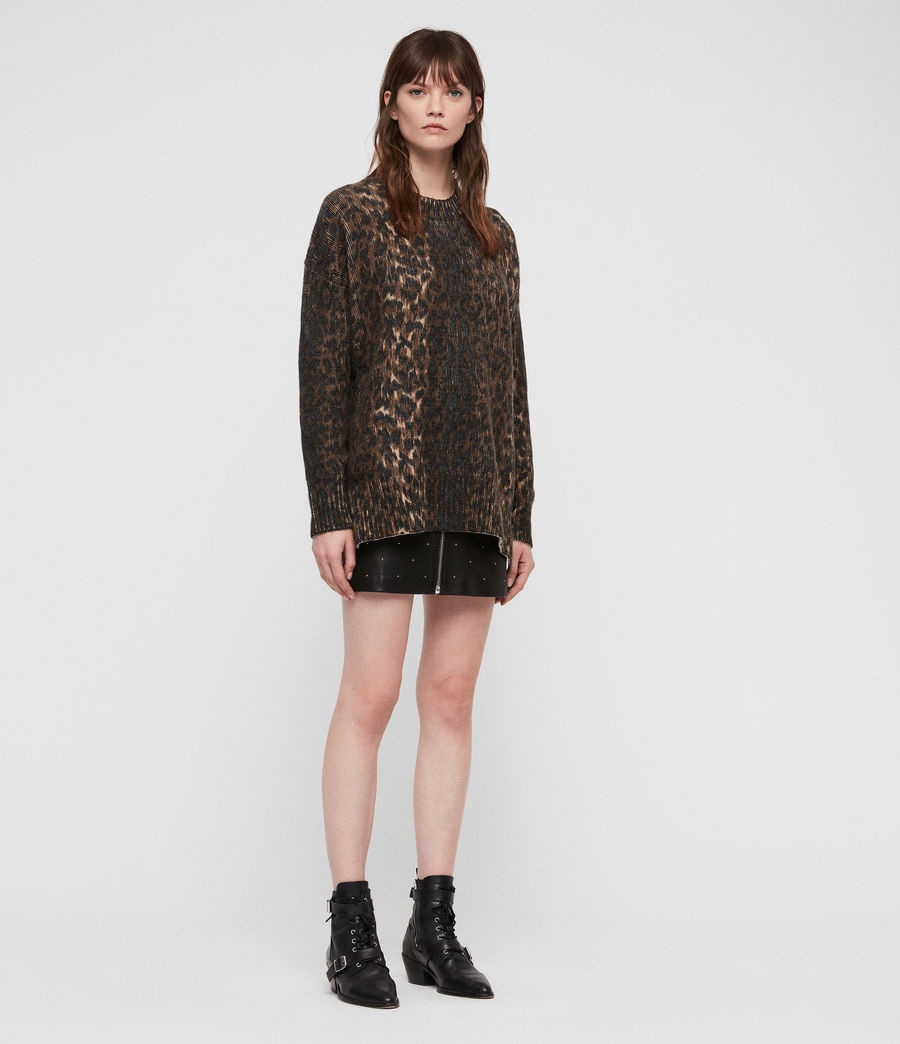 Womens Leopard Sweater (leopard_brown) - Image 3