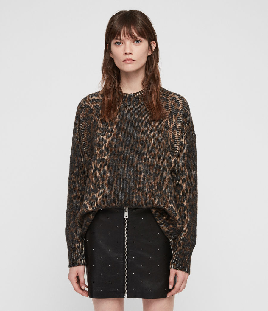 Womens Leopard Sweater (leopard_brown) - Image 4