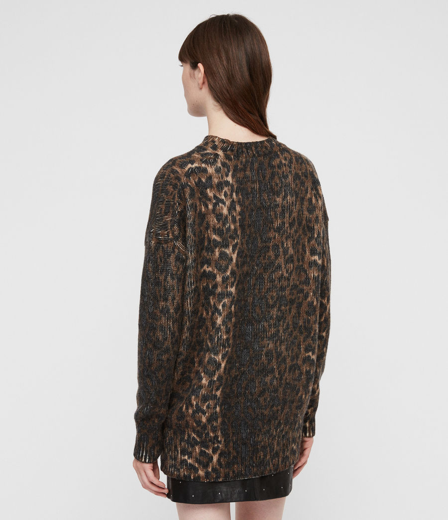 Womens Leopard Sweater (leopard_brown) - Image 5