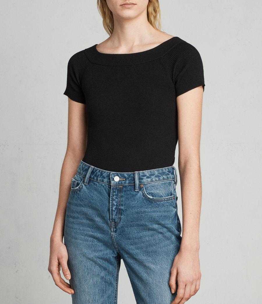 Damen Lavine Bandeau Top (black) - Image 1